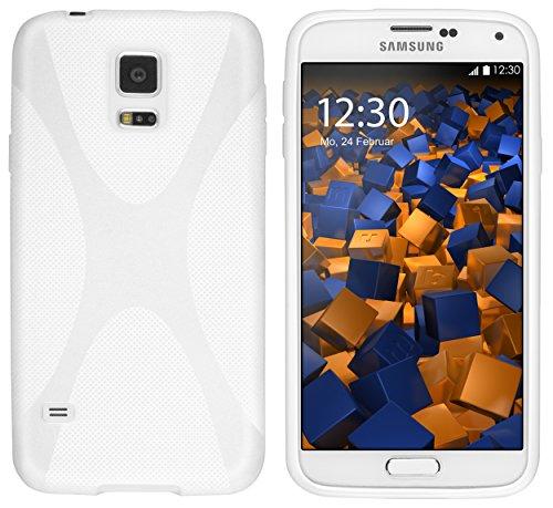 Mumbi - Protector de pantalla para Samsung Galaxy, compatible con Samsung Galaxy S5, color Blanco