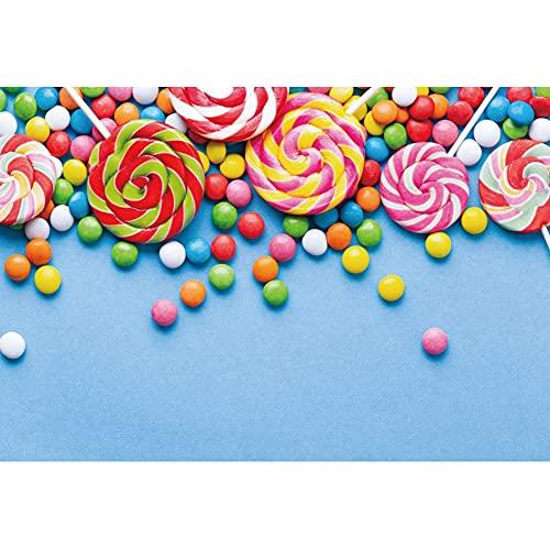OFILA 2.5x1.8m Lollipop Fotografía Telón de Fondo Candyland Party Telón de Fondo para niños Cake Smash Party Baby