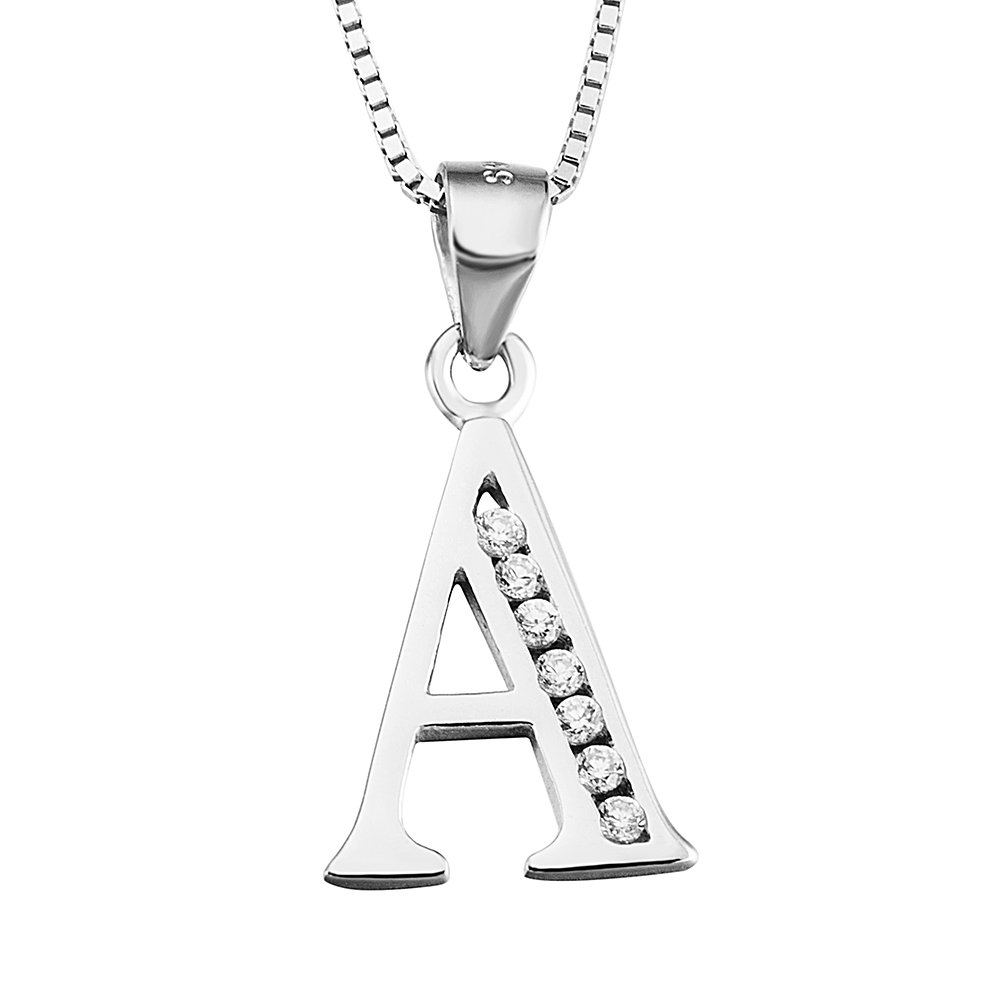 YFN Necklace Sterling Zirconial Alphabet