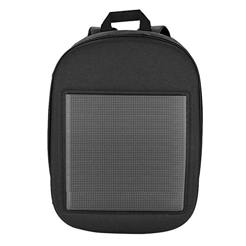 Garsent Laptoprucksack mit LED Anzeige, Fashion Tagesrucksack mit Leuchtreklame Display Werbung Rucksack für Laptop Tablet(grau)