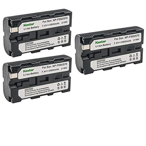 Kastar NP-F570 Battery (3-Pack) for Sony L Series InfoLithium Battery NP-F570, NP-F550, NP-F530, NP-F330 and Sony DCRVX2100, HDRFX1, HD1000U, HVRZ1U, HXR-NX5U, NEX-FS100 Cameras