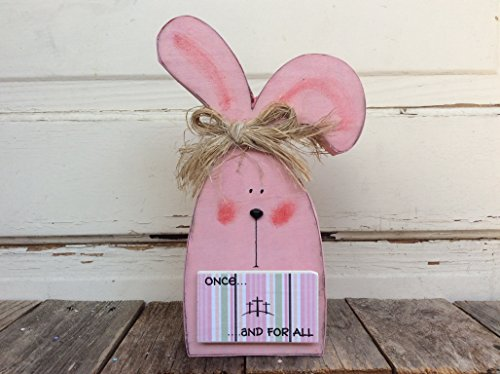 AGD Easter Decor – Once and For All Pink Bunny Tabletop Decor