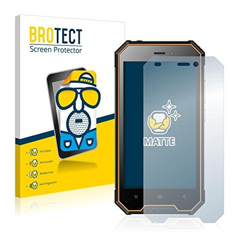 BROTECT 2X Entspiegelungs-Schutzfolie kompatibel mit Blackview BV4000 Pro Bildschirmschutz-Folie Matt, Anti-Reflex, Anti-Fingerprint