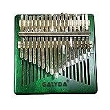 Kalimba Piano Pulgar 17 Teclas,XilóFono de Caoba,Instrumento Musical PortáTil Que es FáCil De Aprender, Adecuado para Principiantes, Estudiantes,Adultos (Color : Green)