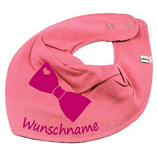 Elefantasie Elefantasie HALSTUCH FLIEGE mit Namen oder Text personalisiert bubblepink für Baby oder Kind