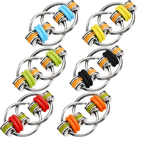 6-Pieces-Fidget-Toy-Flippy-Chain-Stress-Relief-Chain-Key-Ring-Great-for-ADHD-and-ADD-Bike-Chain-Toys-for-Adults-and-Teens