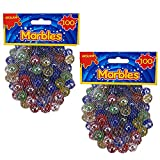 Canicas de cristal, Glasmurmeln, marmoles de cristal, vidrio modelado colorido perlas bolas de cristal para niños (Ojo de gato de mármol, 200 piezas)