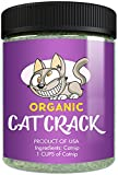 Cat Crack Organic Catnip, Premium Safe Nip Blend, Infused with Maximum Potency Your Kitty Will be Sure to Go Crazy for (1 Cup)