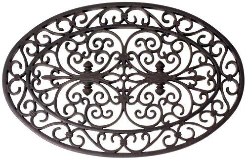 Esschert Design, Felpudo de Goma Oval 70 x 46 cm, RB05, de Goma, 70 x 44 x 1,5-