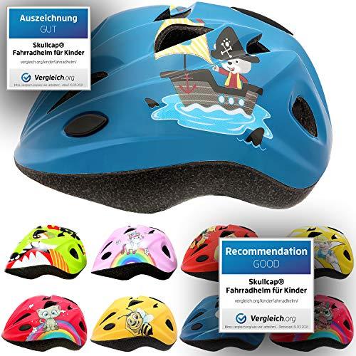 Skullcap® Fahrradhelm für Kinder Kinder-Helm für City-Roller, Longboard, Scooter - Blauer Kinderhelm für Inliner, Schlittschuh & Rollschuh Pirat/Seemann/Schiff