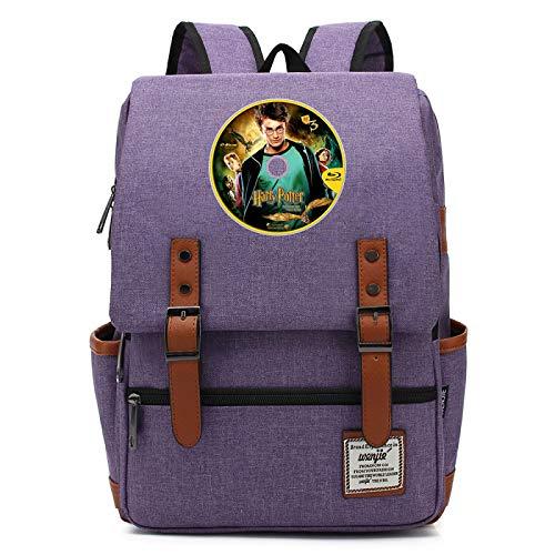 MMZ Teenage Student Backpack Waterproof Nylon Rucksack Lightweight Book Bag Casual Day Backpack Medium Purple