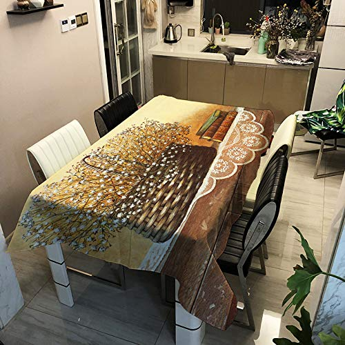 Modern Simple Flower Digital Printing Tablecloth Polyester Waterproof And Anti-Scalding Table Mat Rectangular Coffee Table Tablecloth