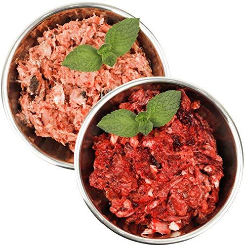 Barf-Snack biologisch artgerechtes Rohfutter Sparpaket mit Fisch & Rind Frostfleisch für Hunde & Katzen