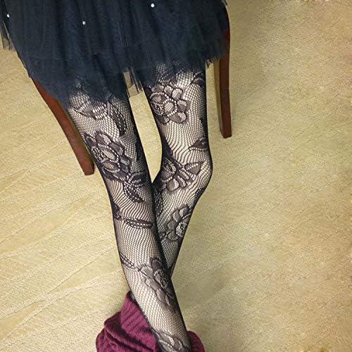 Chaussettes en coton vintage jacquard bas bas de bas en bas de chaussettes classiques pour fille