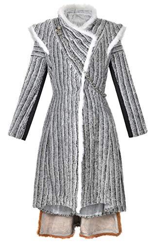 Disfraz de Juego de Tronos, abrigo de invierno de Daenerys Targaryen, temporada 8, talla L