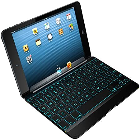 ZAGG Cover with Backlit Bluetooth Keyboard for Apple iPad mini 1 / mini 2 / iPad Mini 3- Black
