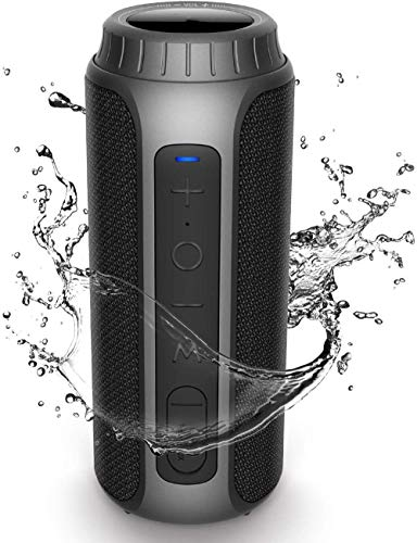 XRRRO 30 Watt Bluetooth Speaker IPX6 Waterproof Wireless Portable TWS Speaker AUX and TF Card 5.0 Bluetooth, with Waterproof Shockproof Microphone 360 ​​Stereo Audio