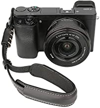 Leather Camera Hand Wrist Strap Adjustable Camera Strap for A6000 A6300 A6500 X100F X100T X100S X100 X-T2 X-T10 X-T20 X-E2 X-E3 and Other Mirrorless Cameras (Black)