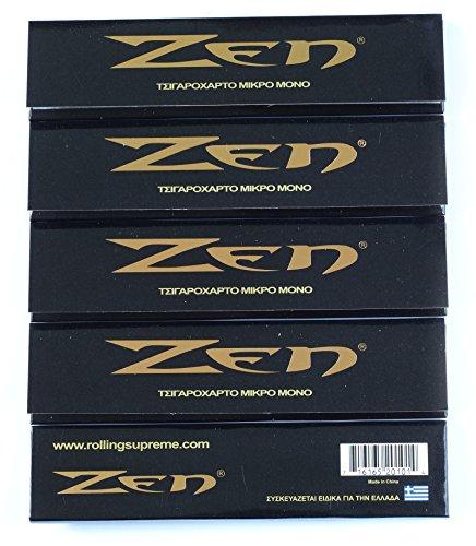 5 opuscoli x carta rotabile originale ZEN King size - totale 160 carte