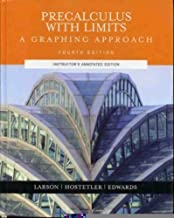 Pre-calculus With Limits: A Graphing Approach Hardcover Teacher's Edition, February, 2004