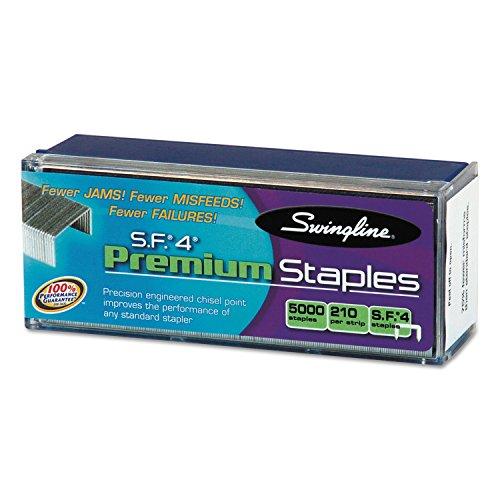 Swingline 35450 S.F. 4 Premium Chisel Point 210 Count Full-Strip Staples 5000/Box