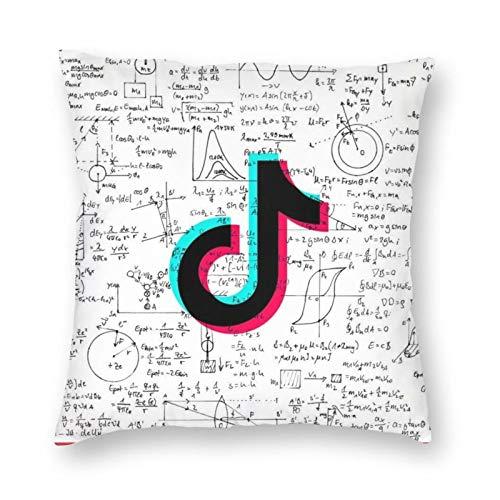 LAKILAN 50 * 50 CM TIK-Tok Logo Formule de calcul Pas d 'Insertion d' oreiller Housse de Coussin Avec fermeture à glissière cachée Canapé Coussin Coussin Taies d 'oreiller