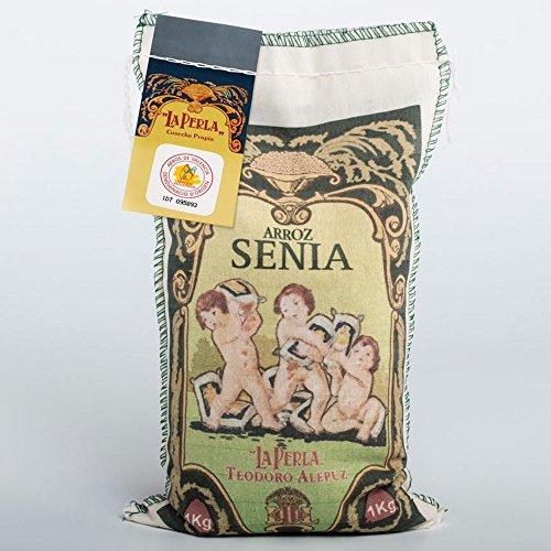1 Kg de arroz Senia para paella Categoría Extra. D.O arroz de Valencia.
