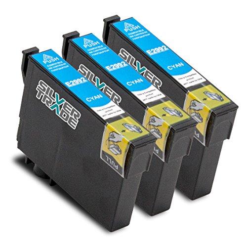 3er Set Tintenpatronen kompatibel zu Epson T2992 Cyan mit Chip für EPSON Expression Home XP-235 / XP-330 Series / XP-332 / XP-335 / XP-430 Series / XP-432 / XP-435