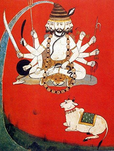 Preisvergleich Produktbild The Poster Corp Science Source Lord Shiva with Sacred Bull Nandi Kunstdruck (45, 72 x 60, 96 cm)