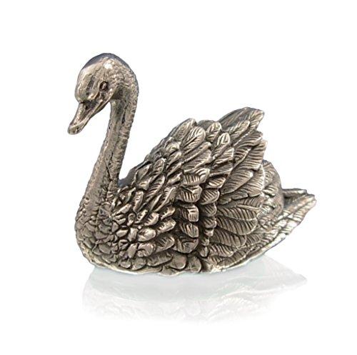 Marquise Jewellery Statuetta a Forma di Cigno in Argento Sterling. Statuette di Animali in Argento.