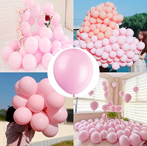 Party Pastel Balloons 100 pcs 10 inch Macaron Candy Colored Latex Balloons for Birthday Wedding Engagement Anniversary Festival Picnic or any Friends & Family Party Decorations-pastel pink
