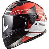 LS2FF320Stream Evo KUB doble visera casco moto integral integrales–rojo negro M(57-58cm)
