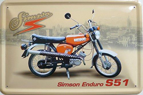 vielesguenstig-2013 Blechschild 20x30cm - Simson Enduro S51
