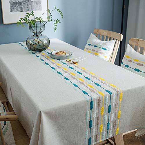 Mantel Cocina Salón Limpiar. Mantel de Tela Simple Bordado a Prueba de Agua