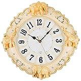 AIOJY Reloj Redondo Europeo Reloj De La Sala De Estar Decoración De La Pared Colgante De La Pared Manor Elefante Reloj De Pared Reloj Creativo Reloj De Cuarzo