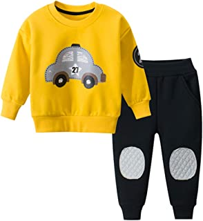 Baby Boys Toddler Kids 2 Pieces Winter Fall Clothing Set Shirt Pants Outfits