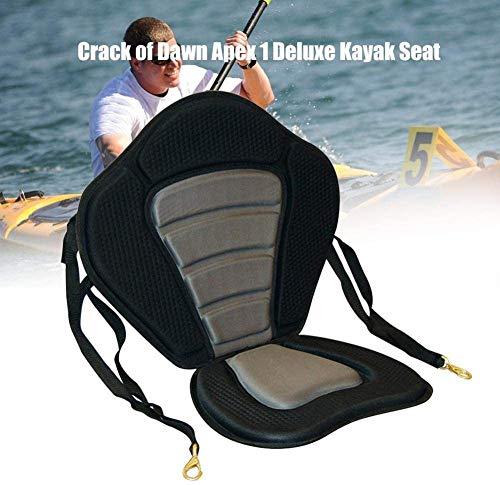 Zakjj Cojín De Asiento Suave para Kayak Asiento De Barco De Kayak Acolchado Base Acolchada para Barco De Remo Cojín De Kayak Ajustable Alto con Respaldo
