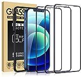 Cocoda 3 Piezas Protector Pantalla Compatible con iPhone 12 y 12 Pro, [Marco Instalación Fácil] [Dureza 9H] [Sin Burbujas] Cobertura Completa Cristal HD Templado -6.1'