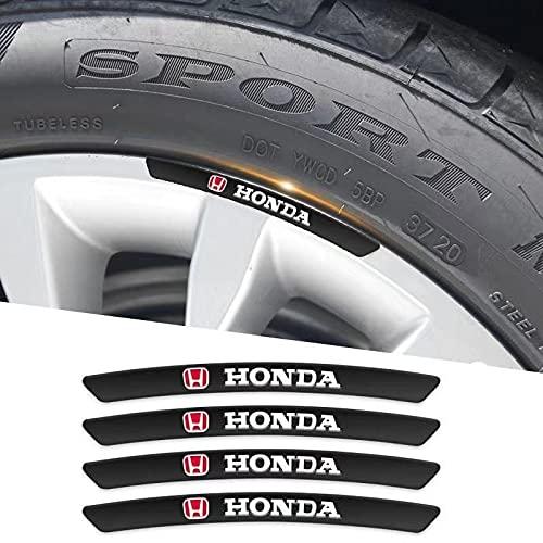Etiquetas engomadas de las rayas de las llantas 4 unids auto calcomanía etiqueta ruedas llantas rims racing auto adhesivo compatible con Honda piloto Odyssey Insight Jazz Accord City Civci CRV FIT HRV