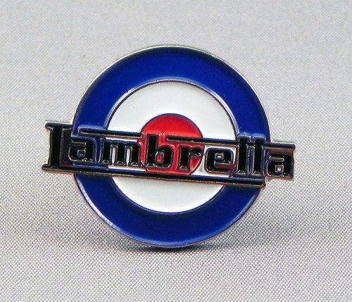 Pin de metal esmaltado, insignia broche Scooter Mod RAF–Lambretta