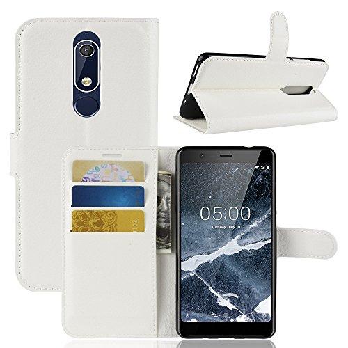 AIOIA Custodia per Nokia 5.1,Portafoglio Wallet Libro Case Cover in PU pelle Borsa e Cinghia Portatile TPU Silicon Gel Protezione per Nokia 5.1