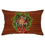Nunubee Christmas Music Score Pattern Funda De Almohada Sofá Funda De Almohada Cuadrada Decoración del Hogar 1 Pieza Set-25# -12X20 Pulgadas