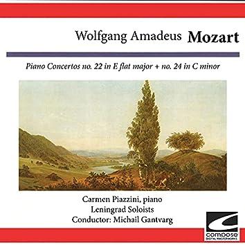 Wolfgang Amadeus Mozart: Piano Concertos no. 22 in E flat major - no. 24 in C minor