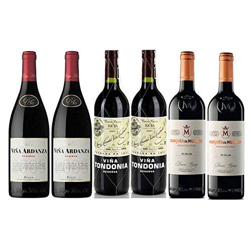 Pack Vino Top Rioja 6 botellas. 2 Viña Tondonia Reserva, 2 Viña...
