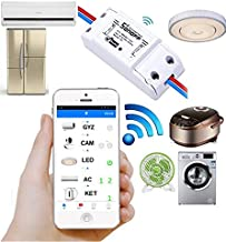 Sonoff Smart Wifi Wireless Switch 10A 2200W for Home Automation Android and IOS Support (White) Work with Amazon Alexa,Google Home,Nest and Many