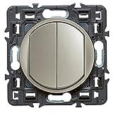 Legrand 099771 Double Interrupteur ou Va et Vient Céliane Soft, 10A, Titane