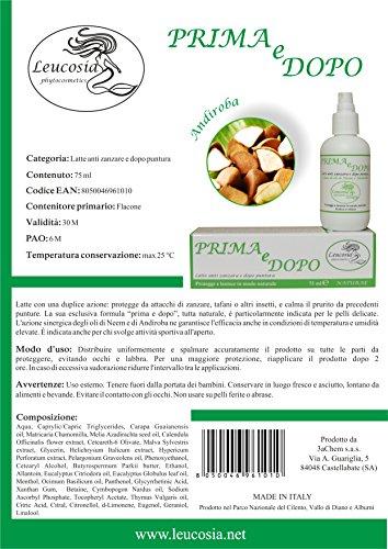 Prima e Dopo (Avant et Après) – Lait anti-moustique et après morsure - 75 ml - Protège contre les moustiques et calme le prurit des piqûres- Idéal pour la peau délicate