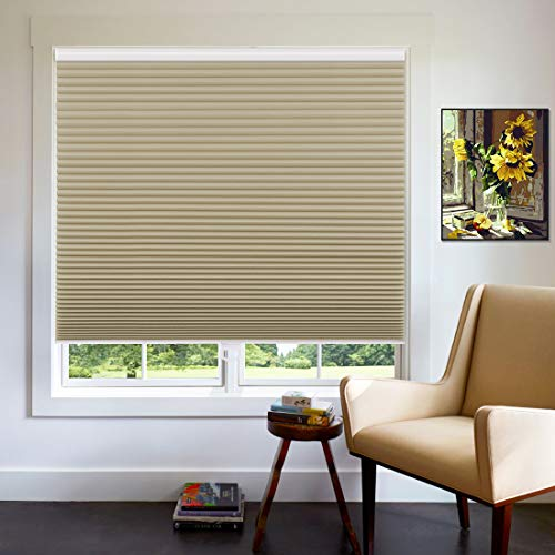 Keego Blackout Window Shades Cordless Cellular Blinds for Window, Cut to Size Cellular Shades, 21