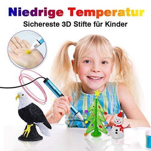 3D Stifte Set mit OLED Display, niedrige Temperatur 3D Pen, sicher für Kinder, Erwachsene und Bastler zu kritzeleien, basteln, malen und 3D drücken (nur kompatibel mit PCL Filament,nicht kompatibel mit PLA und ABS ) - 2