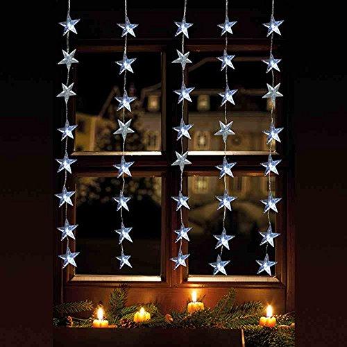 LED Lichtervorhang 40er Sterne warmweiß 1x1,2m innen / außen 06044